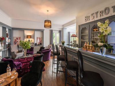 Bar de l'hôtel Quai des Pontis à Cognac en Charente